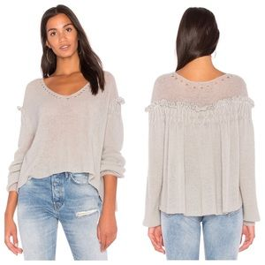 Wildfox solid Sweater in Ash Grey Size XS NWT